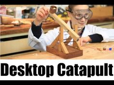 How To Make a Desktop Catapult - YouTube