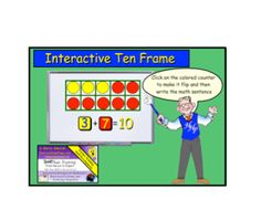 Interactive Ten Frames for the SMART Board WOW ! plein de page notebook interactives Smart Board Activities, Smart Board Lessons, Math Activities, Math Numbers, Decomposing Numbers, 1st Grade Math, Grade 1, Singapore Math, Math Classroom