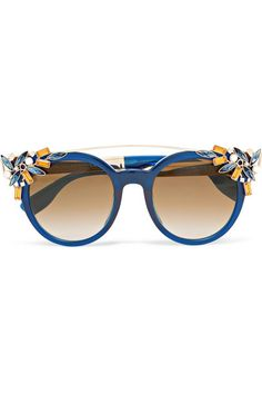 Embellished Cat-eye Acetate Sunglasses - Blue Jimmy Choo London nFB6nyEos
