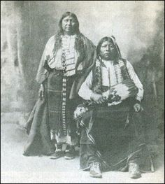 Tonkawa Chief and wife, Grant Richards and Winnie. Description from nativeamericanindianstories.com. I searched for this on bing.com/images