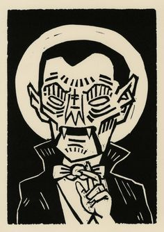 Printmaking - Iain Burke [Illustration - Dracula]