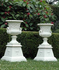 Cast-iron Urns on Tapered Bases