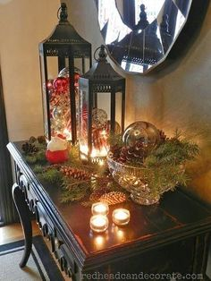 Transitioning from fall to Christmas decor