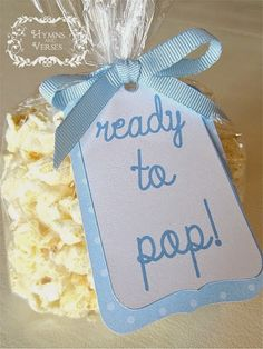 Hymns and Verses: Baby Shower and Engagement Party Popcorn Favor Tag...
