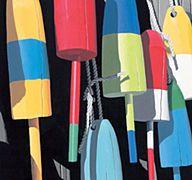dana heacock print--wiscasset buoys
