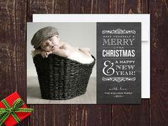 Chalkboard Christmas Photo Cards