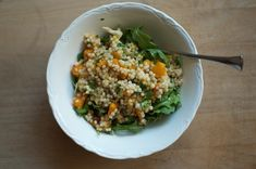 Israeli couscous salad with pickled cauliflower and roasted squash.