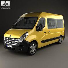 Renault Master Passenger Van 2010 3d model from humster3d.com. Price: $75