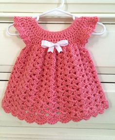 A personal favorite from my Etsy shop https://www.etsy.com/listing/230576144/hand-crocheted-newborn-3-months-dress
