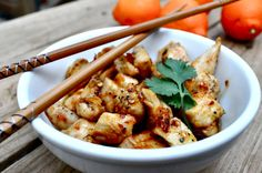 Orange Chicken {this sauce was a little thin for me but I loved the prominent orange flavor!}