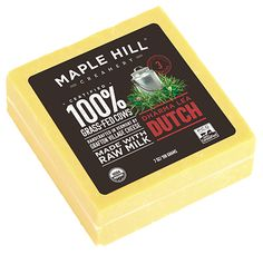 Maple Hill Creamery - 100% Grass Fed Raw Milk Dharma Lea Dutch. Ruch and creamy gouda-style, butterscotch undertones.