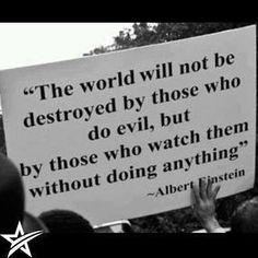 O mundo não será destruido por aqueles que fazem o mal, mas por aqueles que os…