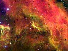 WOW!! A portion of the Lagoon nebula imaged by Argentinean astronomers Julia Arias and Rodolfo Barbá using the Gemini South telescope with the Gemini Multiple-Object Spectrograph.