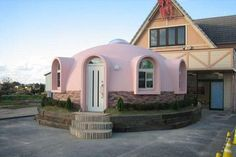 Pink dome in the back yard - and what did the neighbors think about that? http://www.treehugger.com/sustainable-product-design/living-small-cheap-and-simple-try-a-dome-house.html