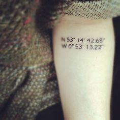 My next tattoo after my sleeve. But I'll use Enchanted Rock's coordinates, of course.