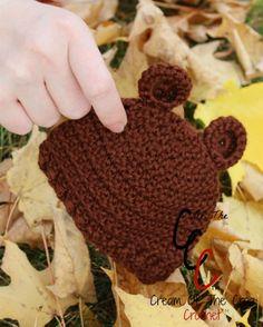 Cream Of The Crop Crochet ~ Preemie/Newborn Bear Ears Hat {Free Crochet Pattern}