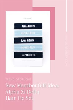 Sorority hair ties are the easiest gift for any celebration: Recruitment, Bid Day, Back to School & Big/Little. Alpha Xi Delta Gifts | Alpha Xi Delta Bid Day | AXiD Hair Ties | Alpha Xi Delta Recruitment | Sorority Bid Day | Sorority Recruitment | Sorority Hair Tie Gifts | Sorority College Gift | Sorority New Member Gift Ideas #BidDayGifts #SororityHairTies Sorority Bid Day, College Sorority, Alpha Sigma Alpha, Sorority Recruitment, Bid Day Gifts, Bid Day Themes, Hair Tie Bracelet, College Gifts, Elastic Hair Ties