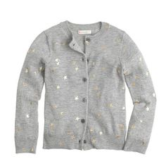 This is what's known here as a surefire hit—a cozy cardigan finished on the front with a smattering of metallic stars. It's a sweet, stylish take on the polka dot (one of our favorite patterns).