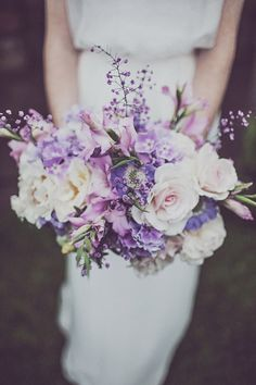 Summer purple bouquet .