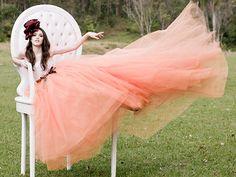 Giant chair, giant skirt :) haha