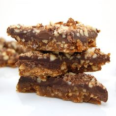 Pecan and Almond Chocolate Toffee ....this is the stuff!! Like christmas candy crack! Tastes better than almond rocca!