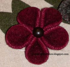 Penny Rugs and More: Flowers Everywhere
