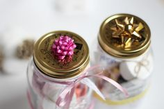 DIY Geschenkidee Maniküre Set im Glas Manicure in a jar christmas in a jar