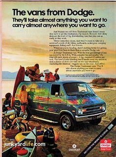 1970's Dodge van ad