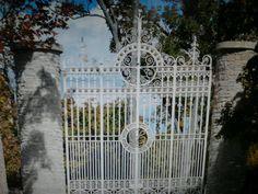 Beautiful white iron gate