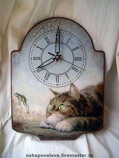 """Часы для дома ручной работы. Ярмарка Мастеров - ручная работа Часы """"Наблюдатель"""". Handmade."""