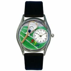 Whimsical Watches Women's S0820001 Lacrosse Black Leather Watch Whimsical Watches. $40.99