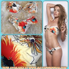 In LOVE with the fabulous bright floral hues of our SAVANAH ORANGE print from our 2013 collection !! Check out our entire safari inspired 2013 collection now at www.mayaswimwear.com ✨ #mayaswimwear #maya #swimwear #mayalove #safari #2013 #florals #brights #savanahorange