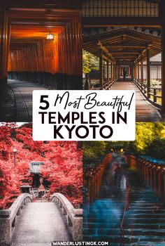 Visiting Kyoto? Here are some of the most beautiful shrines & temples there. There are many more....