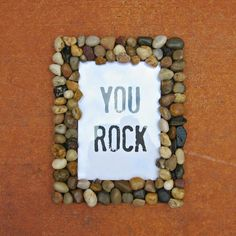 You Rock Frame DIY - This would be great for fathers day.