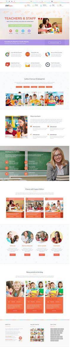 Daycare Website Templates | Childcare Website Templates | Day Care ...