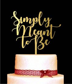 Simply meant to be, Wedding Cake Topper, nightmare before Christmas, Calligraphy Cake Topper, Halloween Wedding Topper by EkaDantaTop on Etsy https://www.etsy.com/listing/522826748/simply-meant-to-be-wedding-cake-topper