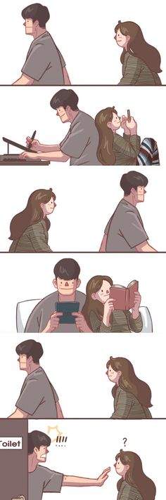Relatable Comics If You Have A Cute And Clingy Girlfriend - Gossip Moneky Love Cartoon Couple, Cute Couple Comics, Couples Comics, Cute Couple Art, Cute Comics, Anime Couples, Cute Couples, Clingy Girlfriend, Cute Couple Drawings