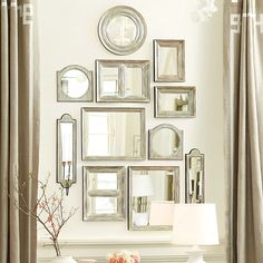 Ballard Designs Suzanne Kasler Gallery Wall Mirrors ($179) ❤ liked on Polyvore featuring home, home decor, mirrors, home wall decor, rectangle mirror, interior wall decor, wall mounted mirror and handmade home decor