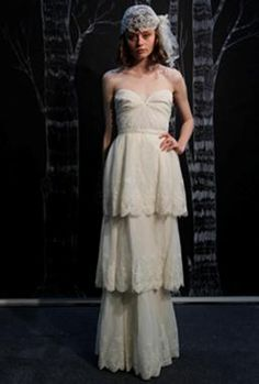 Re-pin! #wedding, Mantilla veil as seen on the Spring 2013 catwalk show for Sarah Seven
