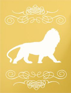 Lion Wall Decal by luxeloft on Etsy