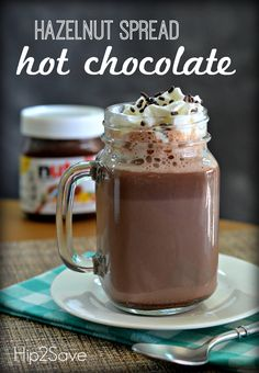 Hazelnut Spread Hot Chocolate (Just 2 Ingredients) by Hip2Save | Not Your Grandma's Coupon Site
