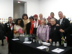 Some of the volunteers who helped make the preview of Postcards from the Edge, benefit for VISUAL AIDS, a memorable night. #http://www.visualaids.org/projects/detail/postcards#.UuaaVbROmUm #nycart #postcards