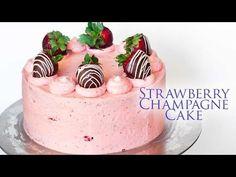 Strawberry Champagne Cake - Tatyanas Everyday Food