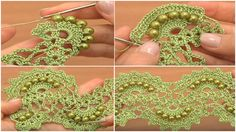 CROCHET BIG LACE - tutorial - przyroda