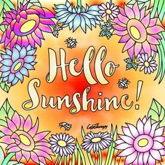 Hello Sunshine, Curtains, Prints, Insulated Curtains, Blinds, Draping, Drapes Curtains, Sheet Curtains