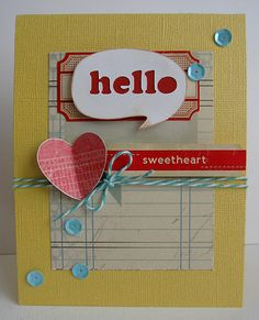 Card by @Daniela Dobson using today's Free Cut Friday!  http://www.thescrapreview.com/2013/01/free-cut-friday.html