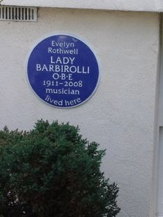 Evelyn Rothwell, Lady Barbirolli - Buckland Crescent, London, NW3