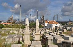 Colonial-era Jewish cemetery in Curacao fades from sun, salt and perhaps refinery smoke