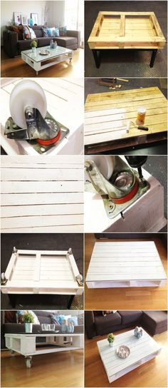 Need an idea for that awesome pallet you picked up at Junkstock? Here's a DIY pallet coffee table.