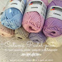 Catania Pastel Pack - ett färgkoordinerat 7-pack med ljuvliga pasteller. Bara hos BautaWitch.com Colour Board, Color, Relax, Packing, Throw Pillows, Crochet, Boards, Design, Line